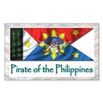 Filipino Pirate Banner (Rectangular Sticker)