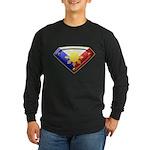 Super Pinoy Long Sleeve Dark T-Shirt