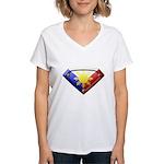Super Pinoy Women's V-Neck T-Shirt
