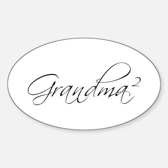 Grandma Squared Oval Decal