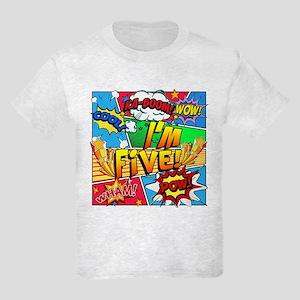 I'm Five Comic Book Kids Light T-Shirt