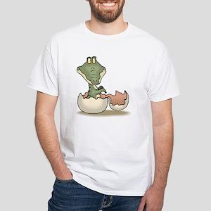 Alligator Baby Hatching White T-Shirt