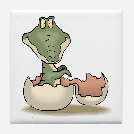 Alligator Baby Hatching Tile Coaster