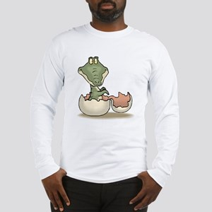 Alligator Baby Hatching Long Sleeve T-Shirt