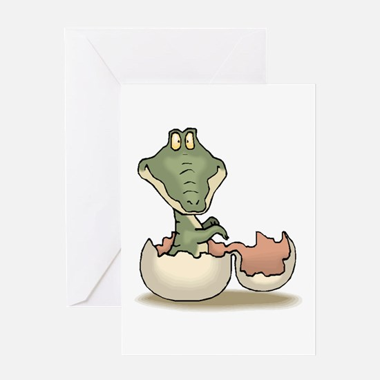 Alligator Baby Hatching Greeting Card