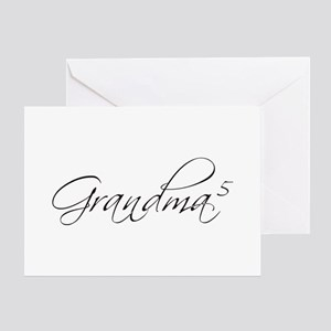 Grandma of 5 Greeting Card