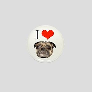 i <3 Pugs Mini Button