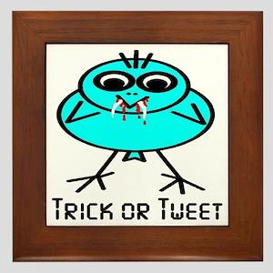 Trick or Tweet Framed Tile