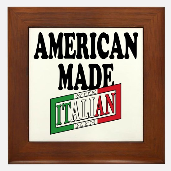 Italian american Pride Framed Tile
