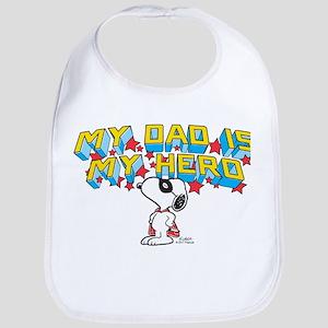 Peanuts Super Dad Baby Bib