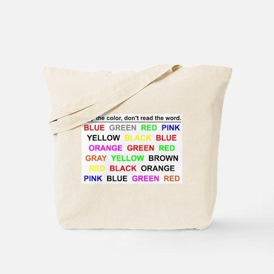 Stroop Effect Tote Bag