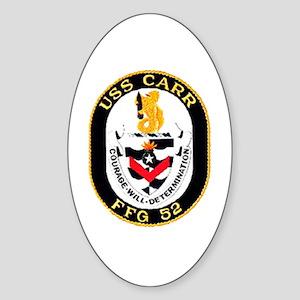 USS Navy Ship Oval Sticker
