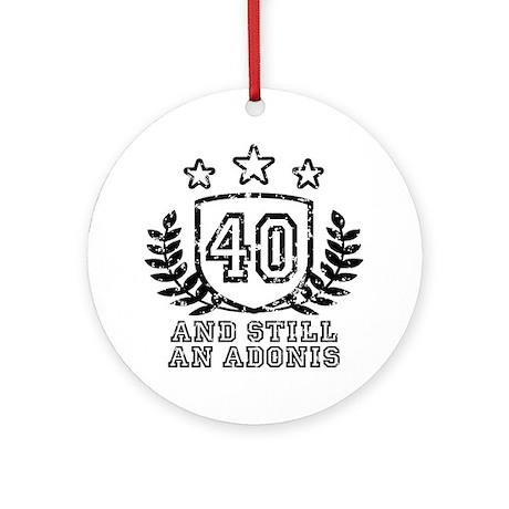 40th Birthday Ornament (Round)