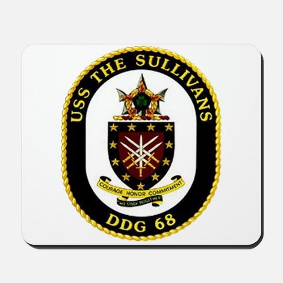 USS The Sullivans DDG 68 US Navy Ship Mousepad