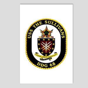 USS The Sullivans DDG 68 US Navy Ship Postcards (P