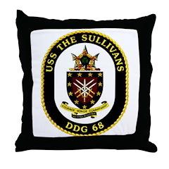 USS The Sullivans DDG 68 US Navy Ship Throw Pillow