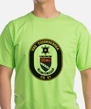USS Ticonderoga CG 47 USS Navy Ship T-Shirt