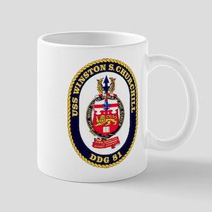 USS Winston S. Churchill DDG 81 US Navy Ship Mug
