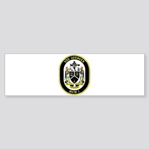 USS Avenger MCM 1 Navy Ship Bumper Sticker