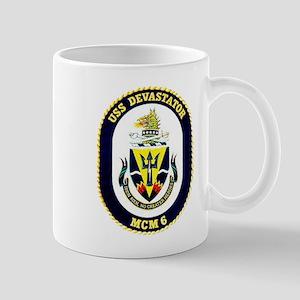 USS Devastator MCM 6 USS Navy Ship Mug