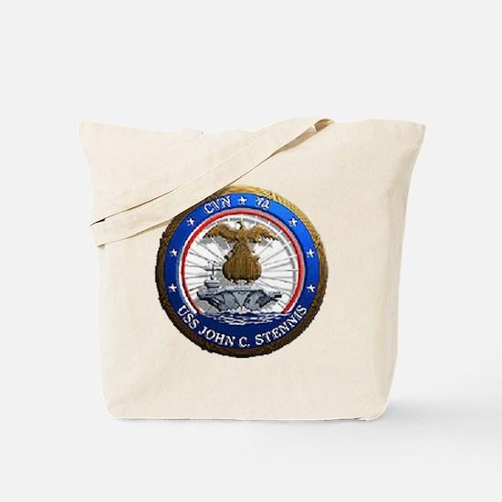 USS John C. Stennis CVN 74 USS Navy Ship Tote Bag