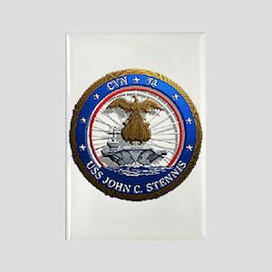 USS John C. Stennis CVN 74 USS Navy Ship Rectangle