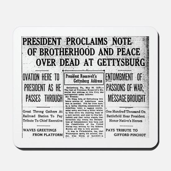 Lincoln's Gettysburg Address News Coverage Mousepa