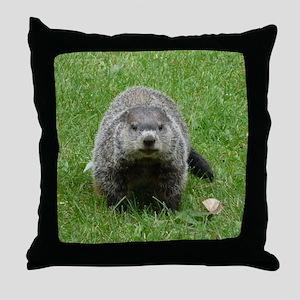 Groundhog (Woodchuck) Throw Pillow