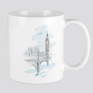 Houses of Parliament Drawing Mugs