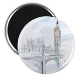 Houses of Parliament Drawing Magnets