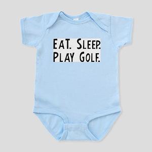 Eat, Sleep, Play Golf Infant Creeper