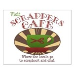 Scrappers Cafe Small Poster
