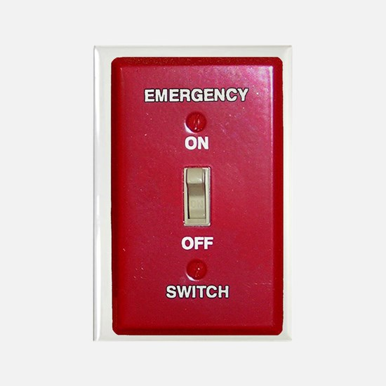 Emergency Switch... Rectangle Magnet