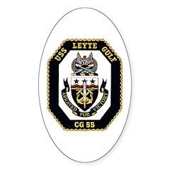 USS Leyte Gulf CG 55 US Navy Ship Oval Decal