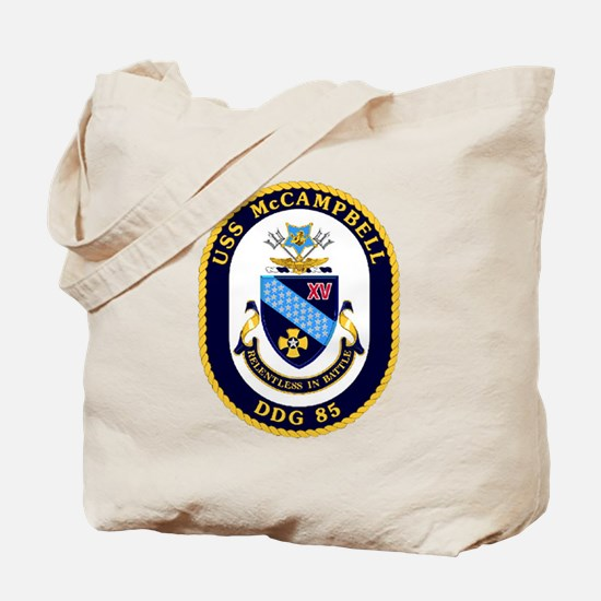 USS McCampbell DDG 85 US Navy Ship Tote Bag