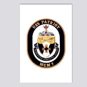 USS Patriot MCM 7 US Navy Ship Postcards (Package
