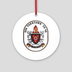 USS Yorktown CG 48 US Navy Ship Ornament (Round)