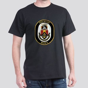 USS Scout MCM 8 Navy Ship Dark T-Shirt