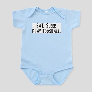 Eat, Sleep, Play Foosball Infant Creeper