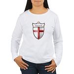 St George Cross Shield of Eng Women's Long Sleeve