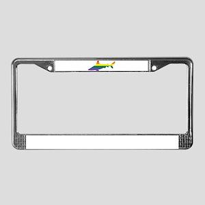 Gay Shark Rainbow License Plate Frame