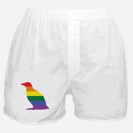 Gay Penguin Rainbow Boxer Shorts