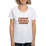 Fantasy Football Phenom Women's V-Neck T-Shirt