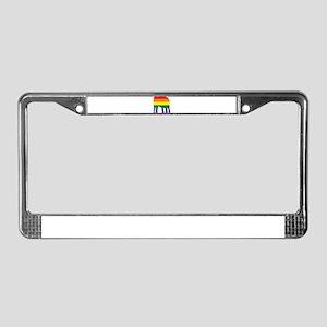 Gay Elephant Rainbow License Plate Frame
