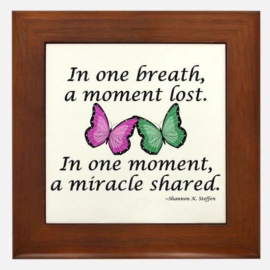 Moment's Miracle Framed Tile