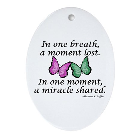 Moment's Miracle Oval Ornament