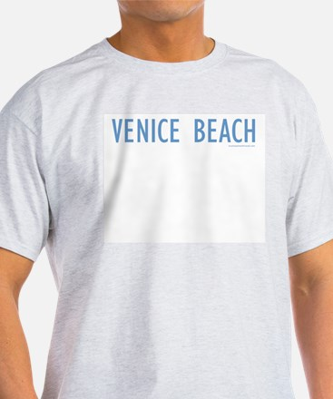 Venice Beach (Blue) - Ash Grey T-Shirt
