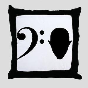 Bass Head Throw Pillow