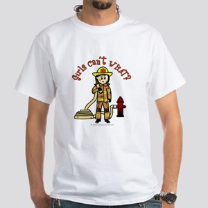 Personalized Firefighter White T-Shirt