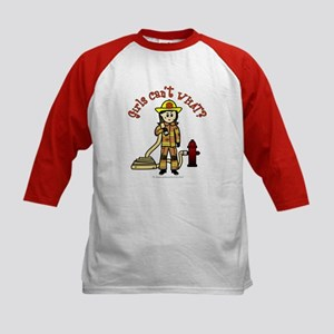 Personalized Firefighter Kids Baseball Jersey